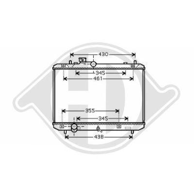 Radiateur, refroidissement du moteur - Diederichs Germany - 8641401