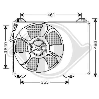 Ventilateur, refroidissement du moteur - HDK-Germany - 77HDK8641403