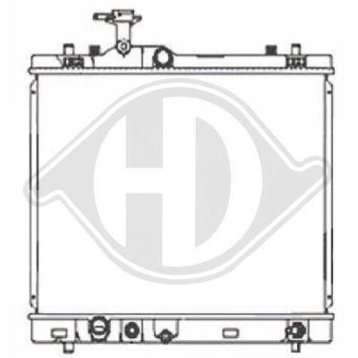Radiateur, refroidissement du moteur - Diederichs Germany - 8641505