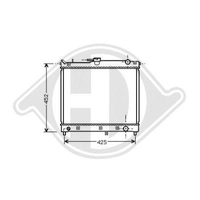 Radiateur, refroidissement du moteur - Diederichs Germany - 8642585