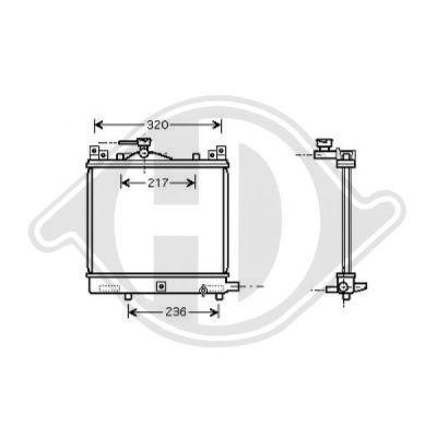 Radiateur, refroidissement du moteur - Diederichs Germany - 8642586