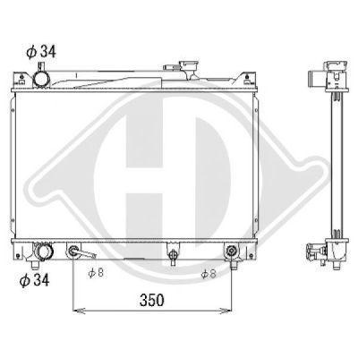 Radiateur, refroidissement du moteur - Diederichs Germany - 8643080