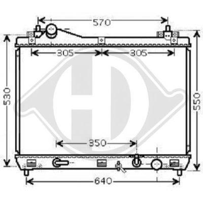 Radiateur, refroidissement du moteur - Diederichs Germany - 8643305
