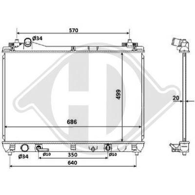 Radiateur, refroidissement du moteur - HDK-Germany - 77HDK8643306