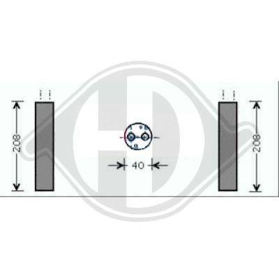 Filtre déshydratant, climatisation - Diederichs Germany - 8643510
