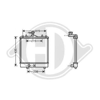 Radiateur, refroidissement du moteur - Diederichs Germany - 8643585