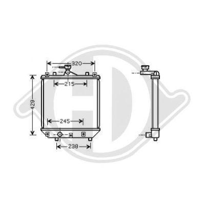 Radiateur, refroidissement du moteur - Diederichs Germany - 8643586