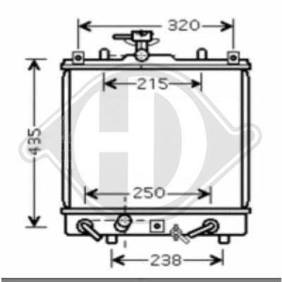 Radiateur, refroidissement du moteur - Diederichs Germany - 8643587
