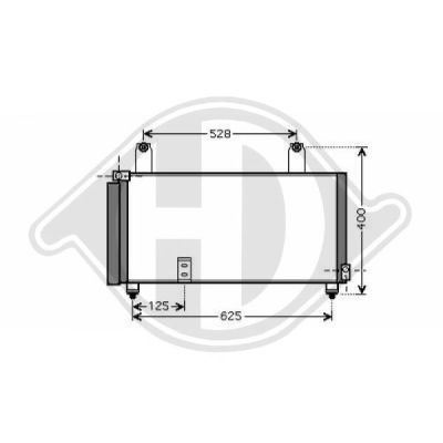 Condenseur, climatisation - Diederichs Germany - 8644000