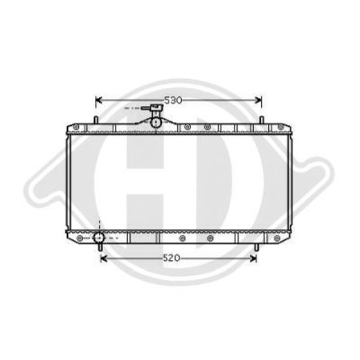 Radiateur, refroidissement du moteur - Diederichs Germany - 8644005