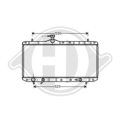 Radiateur, refroidissement du moteur - Diederichs Germany - 8644006