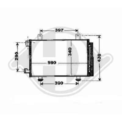 Condenseur, climatisation - Diederichs Germany - 8644580
