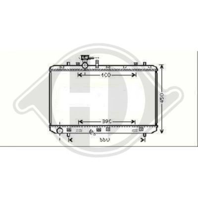 Radiateur, refroidissement du moteur - Diederichs Germany - 8644583