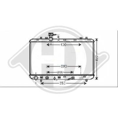 Radiateur, refroidissement du moteur - Diederichs Germany - 8644584