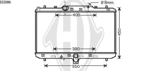 Radiateur, refroidissement du moteur - Diederichs Germany - 8644585