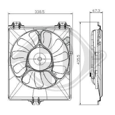 Ventilateur, refroidissement du moteur - Diederichs Germany - 8644590