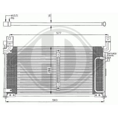 Condenseur, climatisation - HDK-Germany - 77HDK8645000