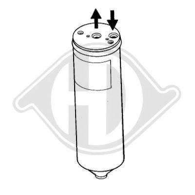 Filtre déshydratant, climatisation - HDK-Germany - 77HDK8645001