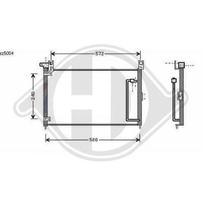 Condenseur, climatisation - Diederichs Germany - 8645002