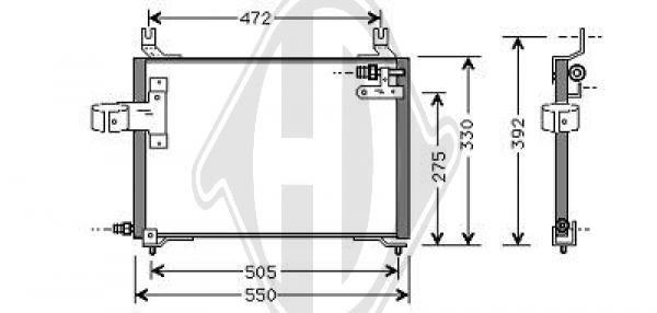 Condenseur, climatisation - HDK-Germany - 77HDK8650001
