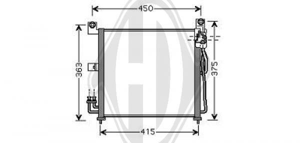 Condenseur, climatisation - Diederichs Germany - 8650500