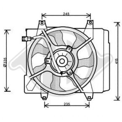 Ventilateur, refroidissement du moteur - HDK-Germany - 77HDK8650501