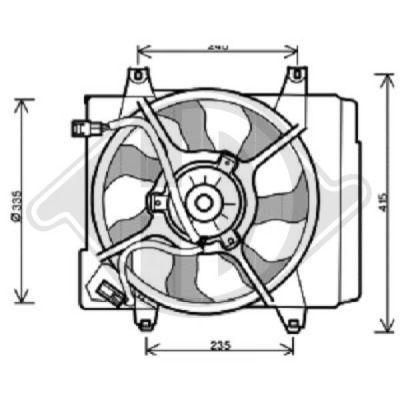Ventilateur, condenseur de climatisation - Diederichs Germany - 8650502