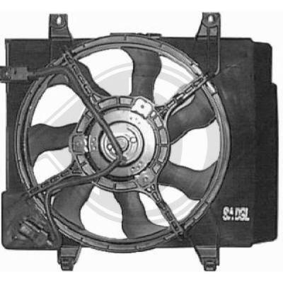 Ventilateur, condenseur de climatisation - Diederichs Germany - 8650503