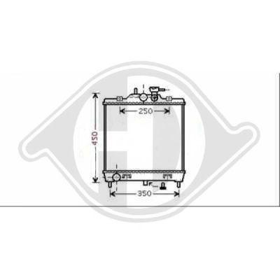 Radiateur, refroidissement du moteur - Diederichs Germany - 8650506