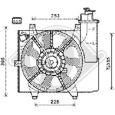 Ventilateur, refroidissement du moteur - Diederichs Germany - 8650512