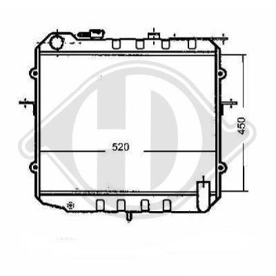 Radiateur, refroidissement du moteur - Diederichs Germany - 8652085