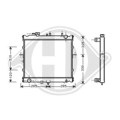 Radiateur, refroidissement du moteur - Diederichs Germany - 8652086