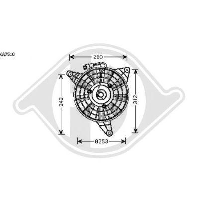 Ventilateur, refroidissement du moteur - Diederichs Germany - 8652088