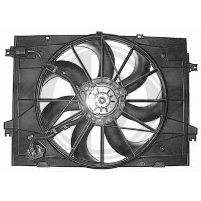 Ventilateur, refroidissement du moteur - Diederichs Germany - 8652112