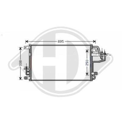Condenseur, climatisation - Diederichs Germany - 8652180