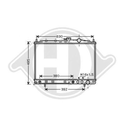 Radiateur, refroidissement du moteur - Diederichs Germany - 8652581