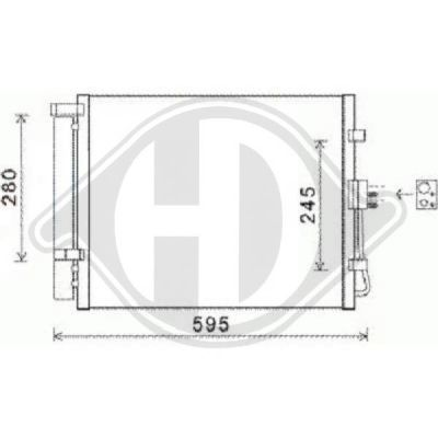 Condenseur, climatisation - HDK-Germany - 77HDK8652600