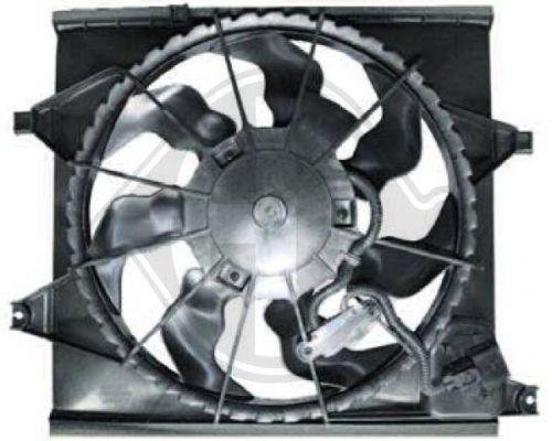 Ventilateur, condenseur de climatisation - Diederichs Germany - 8652608