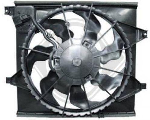 Ventilateur, condenseur de climatisation - Diederichs Germany - 8652610