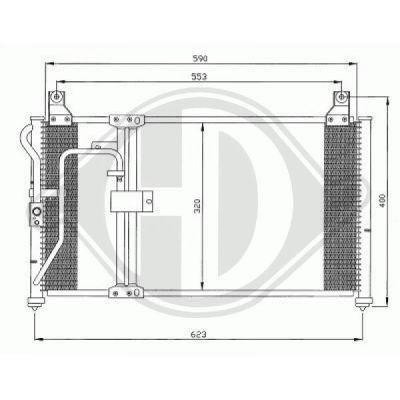 Condenseur, climatisation - Diederichs Germany - 8653100