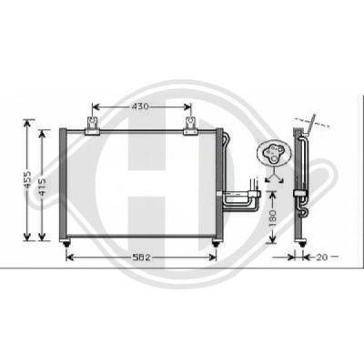 Condenseur, climatisation - HDK-Germany - 77HDK8653500