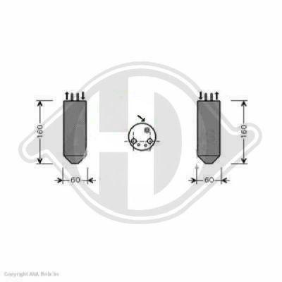 Filtre déshydratant, climatisation - Diederichs Germany - 8653501