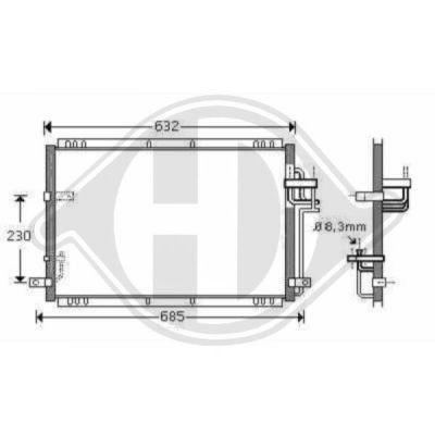 Condenseur, climatisation - Diederichs Germany - 8653600