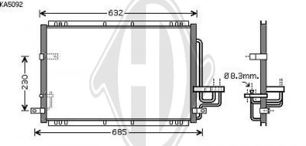 Condenseur, climatisation - Diederichs Germany - 8653602