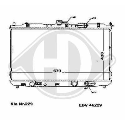 Radiateur, refroidissement du moteur - Diederichs Germany - 8653605