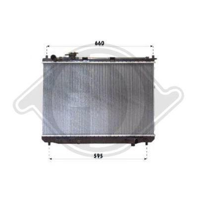 Radiateur, refroidissement du moteur - Diederichs Germany - 8653606