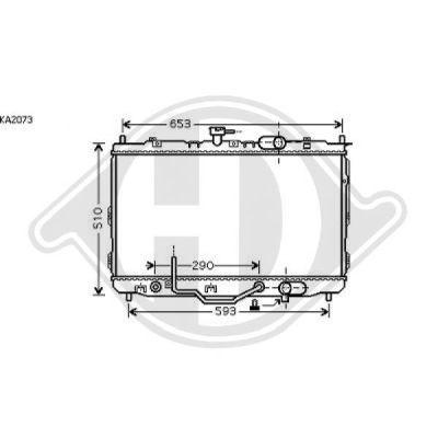 Radiateur, refroidissement du moteur - Diederichs Germany - 8653608