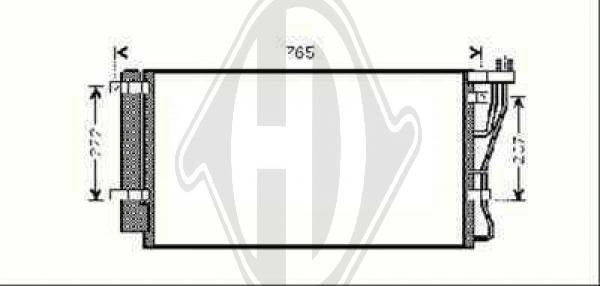 Condenseur, climatisation - Diederichs Germany - 8653700