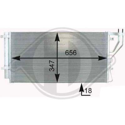 Condenseur, climatisation - Diederichs Germany - 8653701