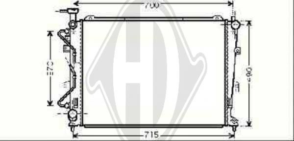 Radiateur, refroidissement du moteur - HDK-Germany - 77HDK8653705
